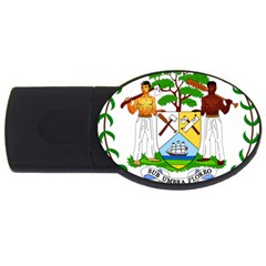 Coat of Arms of Belize USB Flash Drive Oval (4 GB)