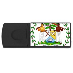Coat of Arms of Belize USB Flash Drive Rectangular (4 GB)