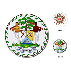Coat of Arms of Belize Playing Cards (Round)