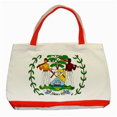 Coat of Arms of Belize Classic Tote Bag (Red)