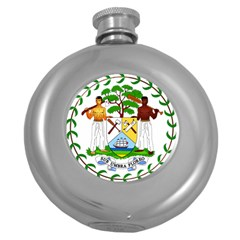 Coat of Arms of Belize Round Hip Flask (5 oz)