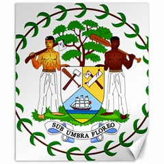 Coat of Arms of Belize Canvas 8  x 10