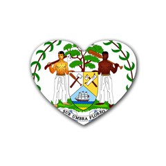 Coat of Arms of Belize Rubber Coaster (Heart)