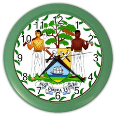 Coat of Arms of Belize Color Wall Clocks