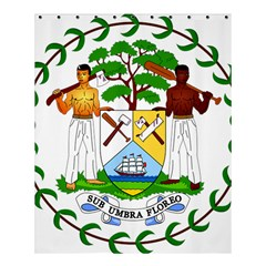 Coat of Arms of Belize Shower Curtain 60  x 72  (Medium)
