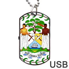 Coat of Arms of Belize Dog Tag USB Flash (Two Sides)