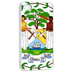 Coat of Arms of Belize Apple iPhone 4/4s Seamless Case (White)