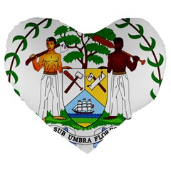 Coat of Arms of Belize Large 19  Premium Heart Shape Cushions