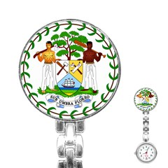 Coat of Arms of Belize Stainless Steel Nurses Watch