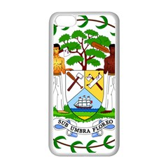 Coat of Arms of Belize Apple iPhone 5C Seamless Case (White)