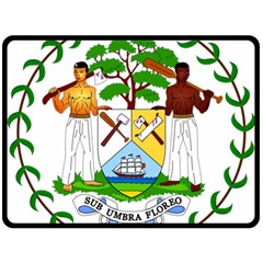 Coat of Arms of Belize Double Sided Fleece Blanket (Large)