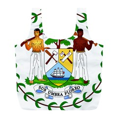 Coat of Arms of Belize Full Print Recycle Bags (L)