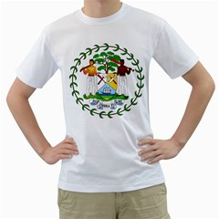 Coat of Arms of Belize Men s T-Shirt (White)