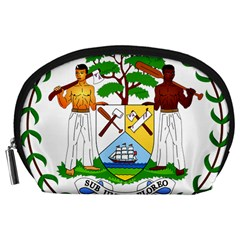 Coat of Arms of Belize Accessory Pouches (Large)