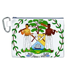 Coat of Arms of Belize Canvas Cosmetic Bag (L)