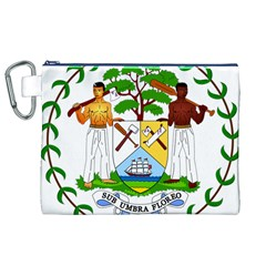 Coat of Arms of Belize Canvas Cosmetic Bag (XL)