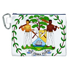 Coat of Arms of Belize Canvas Cosmetic Bag (XXL)