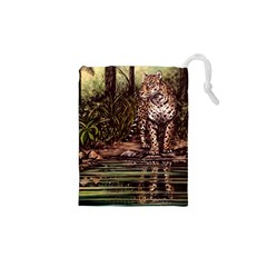 Jaguar In The Jungle Drawstring Pouches (xs)