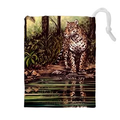 Jaguar in the Jungle Drawstring Pouches (Extra Large)