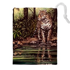 Jaguar in the Jungle Drawstring Pouches (XXL)