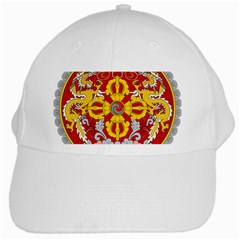 National Emblem of Bhutan White Cap