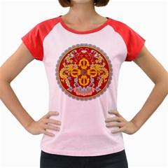 National Emblem of Bhutan Women s Cap Sleeve T-Shirt