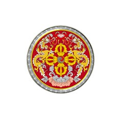 National Emblem of Bhutan Hat Clip Ball Marker (4 pack)