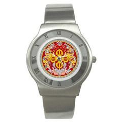 National Emblem of Bhutan Stainless Steel Watch