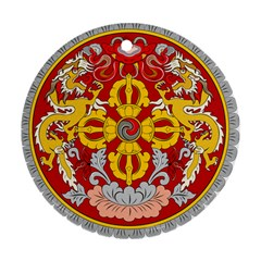 National Emblem of Bhutan Round Ornament (Two Sides)