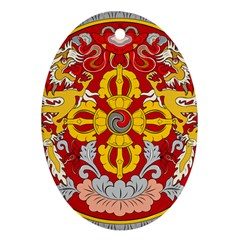 National Emblem of Bhutan Oval Ornament (Two Sides)