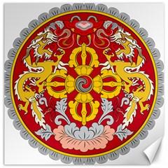 National Emblem of Bhutan Canvas 16  x 16