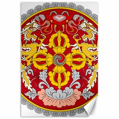 National Emblem of Bhutan Canvas 24  x 36