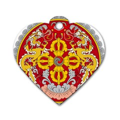 National Emblem of Bhutan Dog Tag Heart (Two Sides)