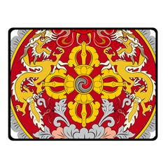 National Emblem Of Bhutan Fleece Blanket (small)
