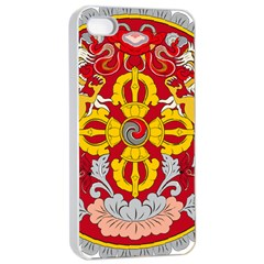 National Emblem of Bhutan Apple iPhone 4/4s Seamless Case (White)