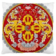 National Emblem of Bhutan Large Cushion Case (One Side)