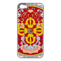 National Emblem of Bhutan Apple iPhone 5 Case (Silver)