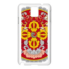 National Emblem of Bhutan Samsung Galaxy Note 3 N9005 Case (White)