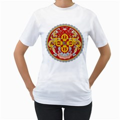 National Emblem of Bhutan Women s T-Shirt (White)