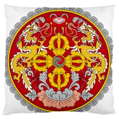 National Emblem of Bhutan Large Flano Cushion Case (Two Sides)