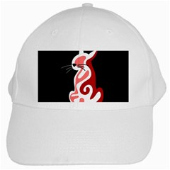 Red abstract cat White Cap