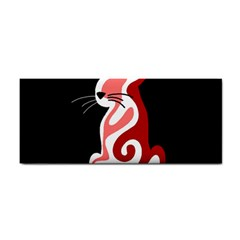 Red abstract cat Cosmetic Storage Cases