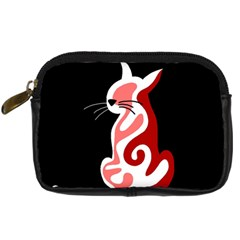 Red abstract cat Digital Camera Cases
