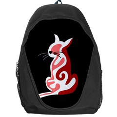 Red abstract cat Backpack Bag