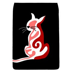 Red abstract cat Flap Covers (S)