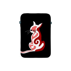 Red abstract cat Apple iPad Mini Protective Soft Cases