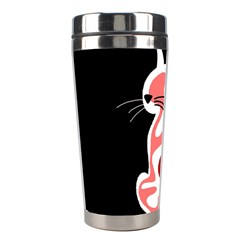 Red abstract cat Stainless Steel Travel Tumblers