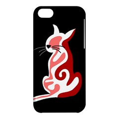 Red abstract cat Apple iPhone 5C Hardshell Case