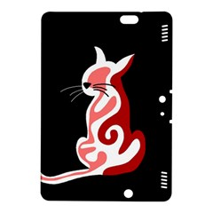 Red abstract cat Kindle Fire HDX 8.9  Hardshell Case