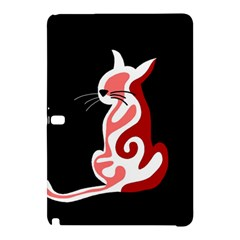 Red abstract cat Samsung Galaxy Tab Pro 12.2 Hardshell Case